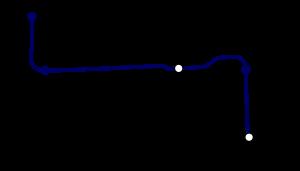Tracé géographiquement exact de la première ligne de CDGVAL