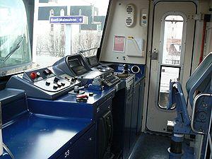 Une cabine de conduite de MS 61 rénové