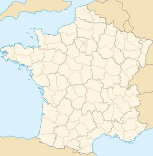 Carte de localisation de Paris