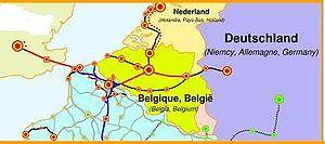 Carte des lignes LGV en Belgique