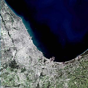 Image satellite de Chicago