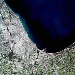 Image satellite de Chicago
