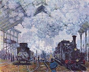 La halle de Saint-Lazare par Claude Monet