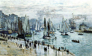 Bateaux quittant le port, Le Havre (Claude Monet)1874 (60 x 101 cm), collection priv�e