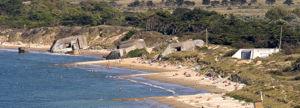 La plage de la Conche des Baleines, nord de l'�le de R� - Charente-Maritime (a servi au tournage du film Le jour le plus long).