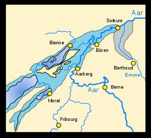 Marais et zones inondées avant la correction.