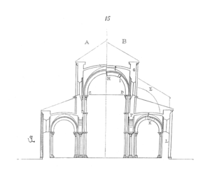 Un exemple d'utilisation de l'arc-boutant: l'abbatiale Sainte-Marie-Madeleine de Vézelay.