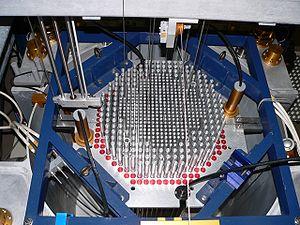 Cœur du réacteur CROCUS à l'EPFL (Suisse)