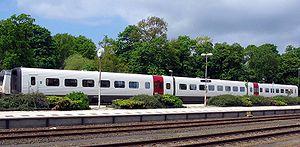 Un train de banlieue danois à Aalborg