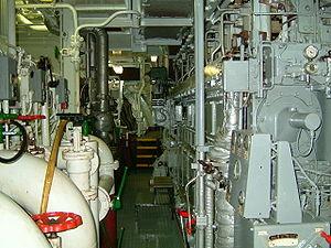 Parquet moteur principal, avec un moteur Diesel de 5000 kW