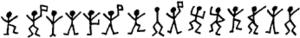 Message codé de la fiction des Hommes dansants.