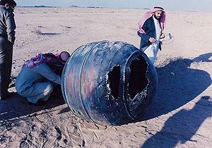Un débris du troisième étage de Delta 2 retrouvé en Arabie saoudite le 21 janvier 2001