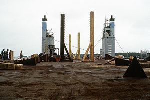 Réserves de flottabilité arrière et pont du Super Servant 3.