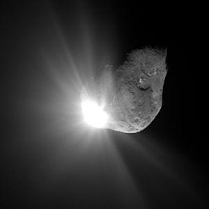Image haute résolution prise par la sonde 67 secondes après l'impact