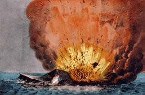 Destruction du navire le 11 mai 1862.