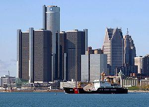 Le quartier des affaires de Détroit