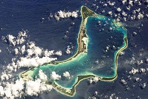 L'île vue depuis l'ISS à une altitude de 391 km le 04/06/2003