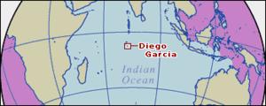 Localisation de l'archipel de 'Diego Garcia'