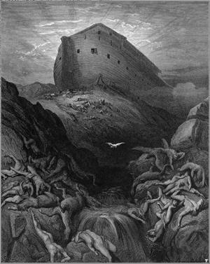 Le Lâcher de la colombe (Gustave Doré)