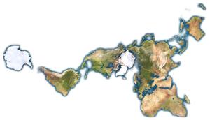 La Terre telle un seul continent, par Buckminster Fuller.