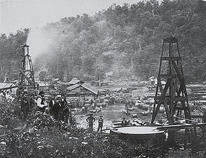 Les début de l'exploitation du pétrole en Pennsylvanie
