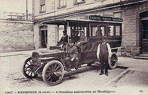 L'omnibus automobile de Montlignon, anc�tre de la ligne de bus 38.01