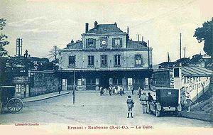Le bâtiment voyageurs de 1878, démoli le 12 mars 2005
