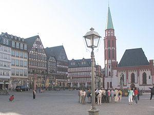 Colombages de la place du Römerberg à Francfort-sur-le-Main (Hesse, Allemagne)