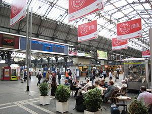 Hall d'attente de la Gare de l'Est (en travaux)