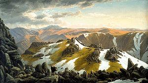 La peinture romantique exalte les paysages sauvages, montagneux notamment