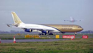 Airbus A340-300 de la compagnie Gulf Air