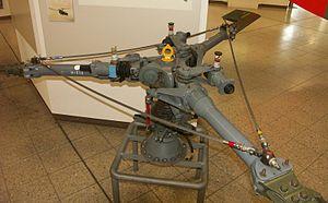 Rotor princ. de l'Alouette II au Deutsches Museum à Munich