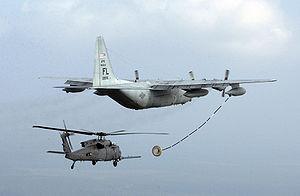 HH-60 Pave Hawk en approche d'un HC-130