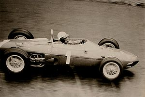 Phil Hill au volant d'une Ferrari F1 en 1962