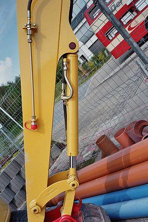 Les vérins hydrauliques trouvent leur application la plus visible dans les engins de chantier.