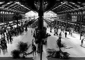 Intérieur de la gare de Lyon.