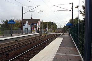 La gare côté quais.