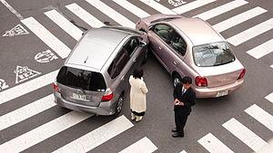 Accident de voiture au Japon.