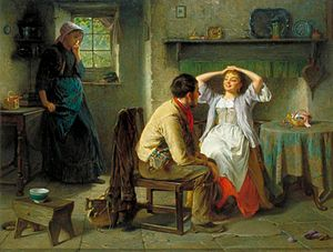Flirt et jalousie, de Haynes King (1831-1904)