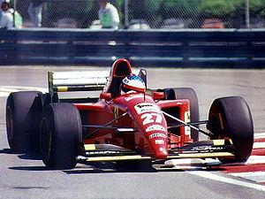 Jean Alesi lors de sa victoire au GP du Canada 1995.