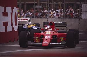 Jean Alesi au GP des États-Unis 1991.