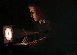 Jeremiah Horrocks faisant la première observation du transit de Vénus en 1639