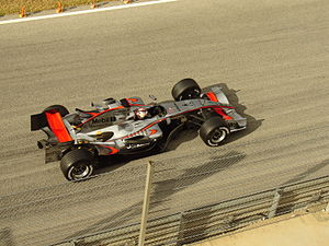 Kimi Räikkönen lors des premiers essais de la MP4-21