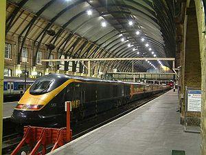 Une rame NOL du GNER en gare de King's Cross.