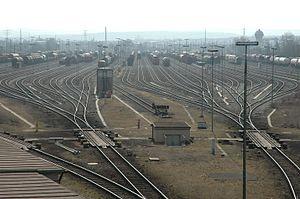 Gare de triage de Kornwestheim à Stuttgart.