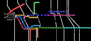 plan du réseau Long Island Railroad