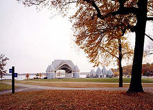 Bords du lac Harriet de Minneapolis en automne.