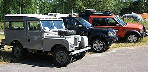 Divers modèles de Land Rover