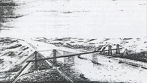 Le projet de pont transbordeur de Ferdinand Arnodin (1897)