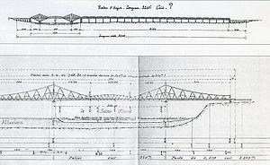 Projet de viaduc de type cantilever émanant de la Cie des chemins de fer de l'Ouest (1900)